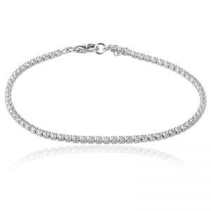 silver tennis bracelet,сребърна гривна с камъни