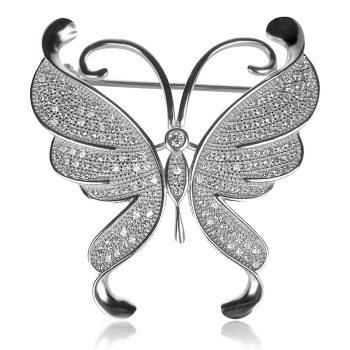 brooch, silver brooch, silver brooch butterfly,сребърна брошка, сребърна брошка пеперуда