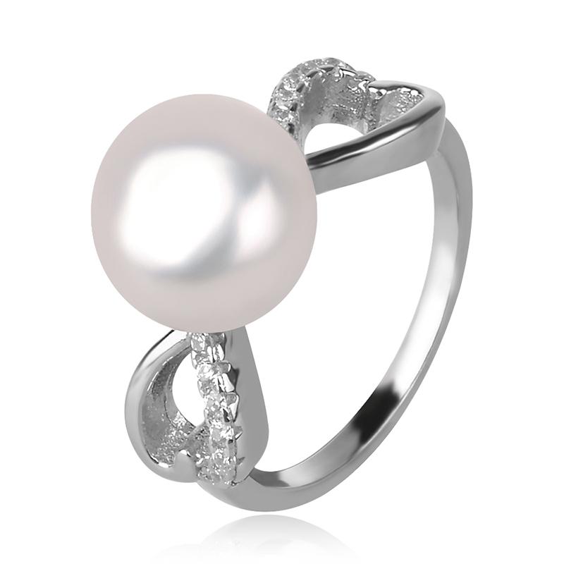 silver ring with white pearl, сребърен пръстен с бяла перла