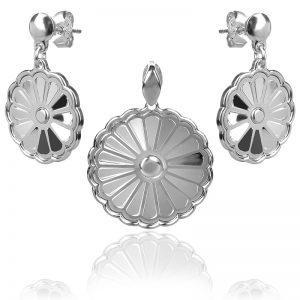 silver set earrings and pendant,сребърен комплект обеци и медальон