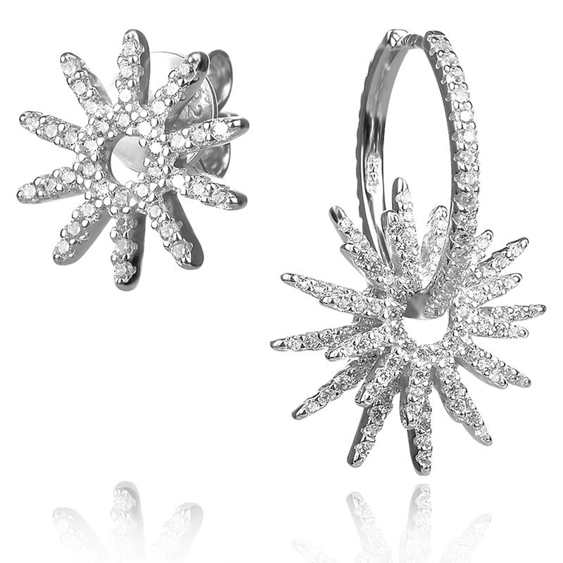 asymmetric silver earrings,асиметрични сребърни обеци