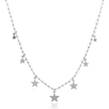 сребърно колие звезди, silver necklace stars