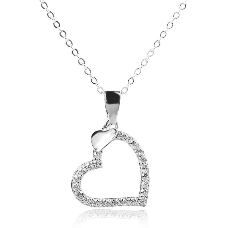 silver necklace, gift, heart,сребърно колие, сърце, подарък