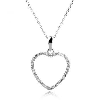 сребърно колие сърце,silver necklace heart
