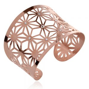 silver bracelet rose gold,сребърна гривна розова позлата