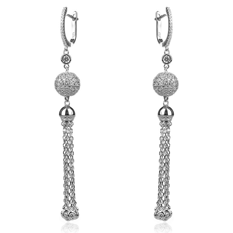 silver long earrings, сребърни висящи обеци