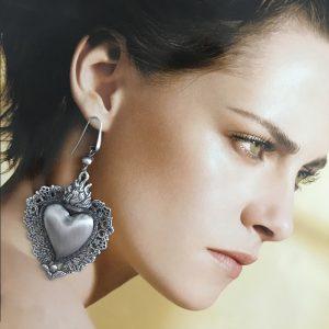 sacred heart earrings