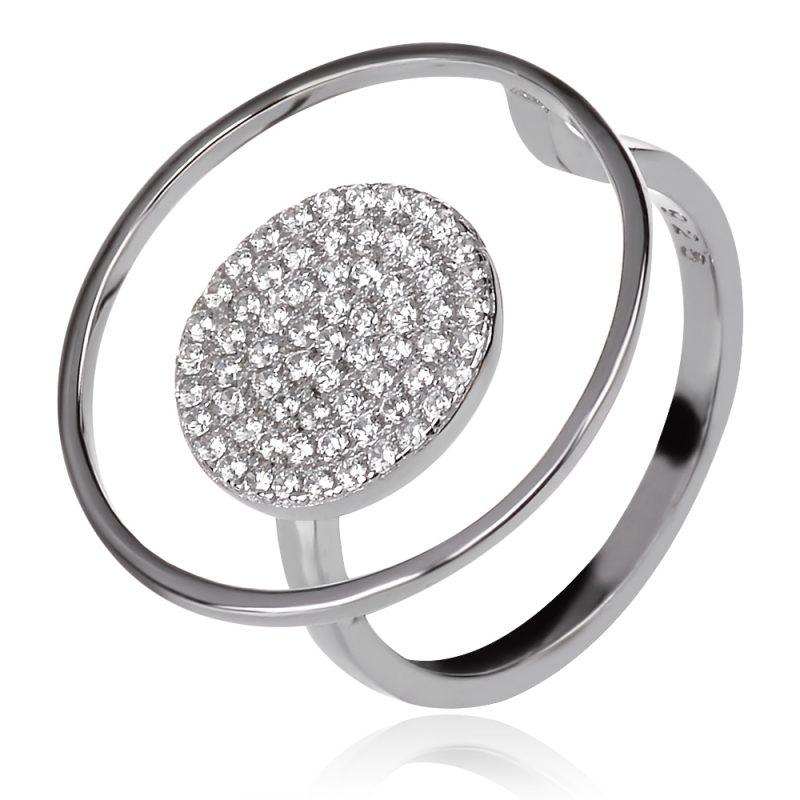 сребърен пръстен с цироконии