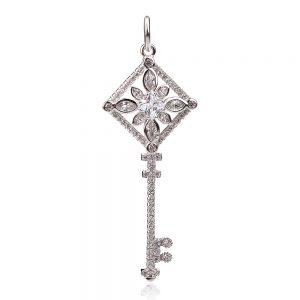 сребърен медальон , ключ
