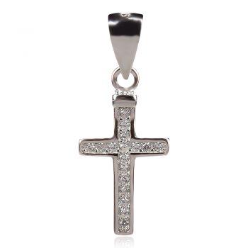 сребърен малък класически православен кръст