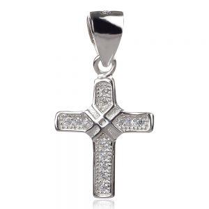 сребърен православен кръст подходящ за кръщене