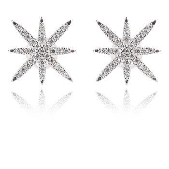 сребърни обеци звезди стил APM Monaco