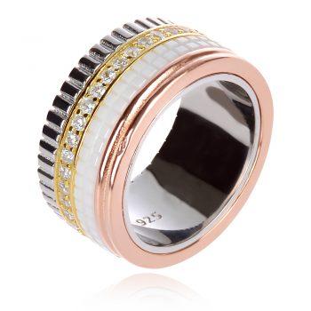 пръстен халка Boucheron с бяла и розов апозлата и цирконии
