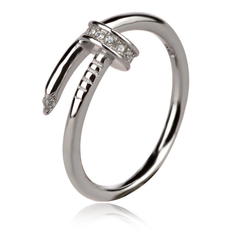 сребърен пръстен пирон стил Cartier