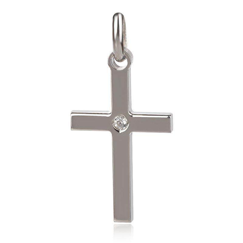 Сребърен кръст с цирконии