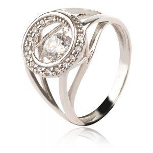 сребърен пръстен с цирконии
