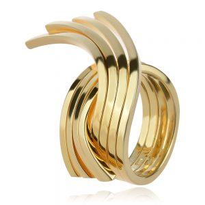 бутиков сребърен пръстен с позлата