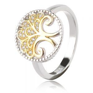 сребърен пръстен дърво на живота