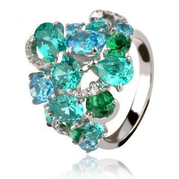 сребърен пръстен GANEZZI с цвят тюркоаз