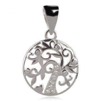 сребърен медальон дърво на живота
