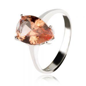 сребърен пръстен султанит капка
