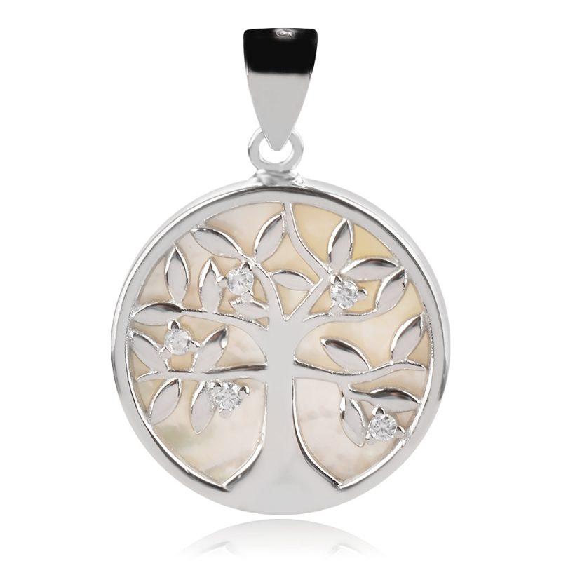 медальон със седеф,дърво на живота