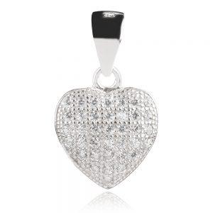 сребърен медальон,сърце