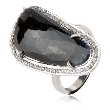 сребърен пръстен със сапфир