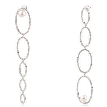 висящи сребърни обеци с перли