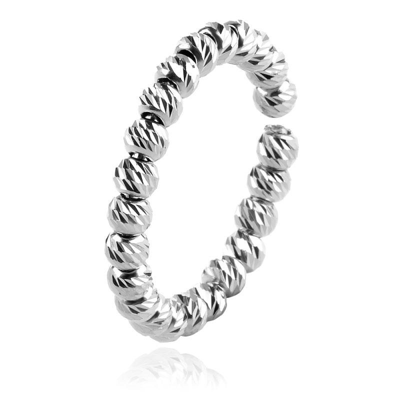 сребърен пръстен, халка, лазерно гравирани топчета,