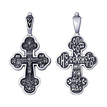 сребърен кръст, без камък, оксидирано сребро, sokolov,