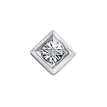 сребърен медальон с брилянт