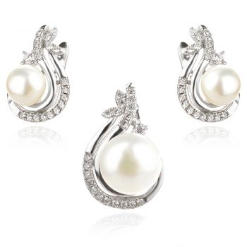 сребърен комплект с перла